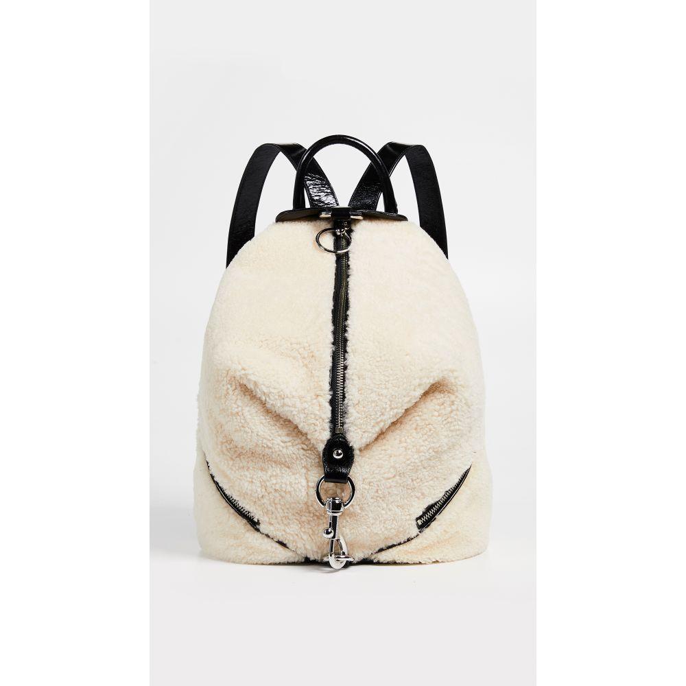 レベッカ ミンコフ Rebecca Minkoff レディース バッグ バックパック・リュック【Shearling Julian Side Zip Backpack】Natural