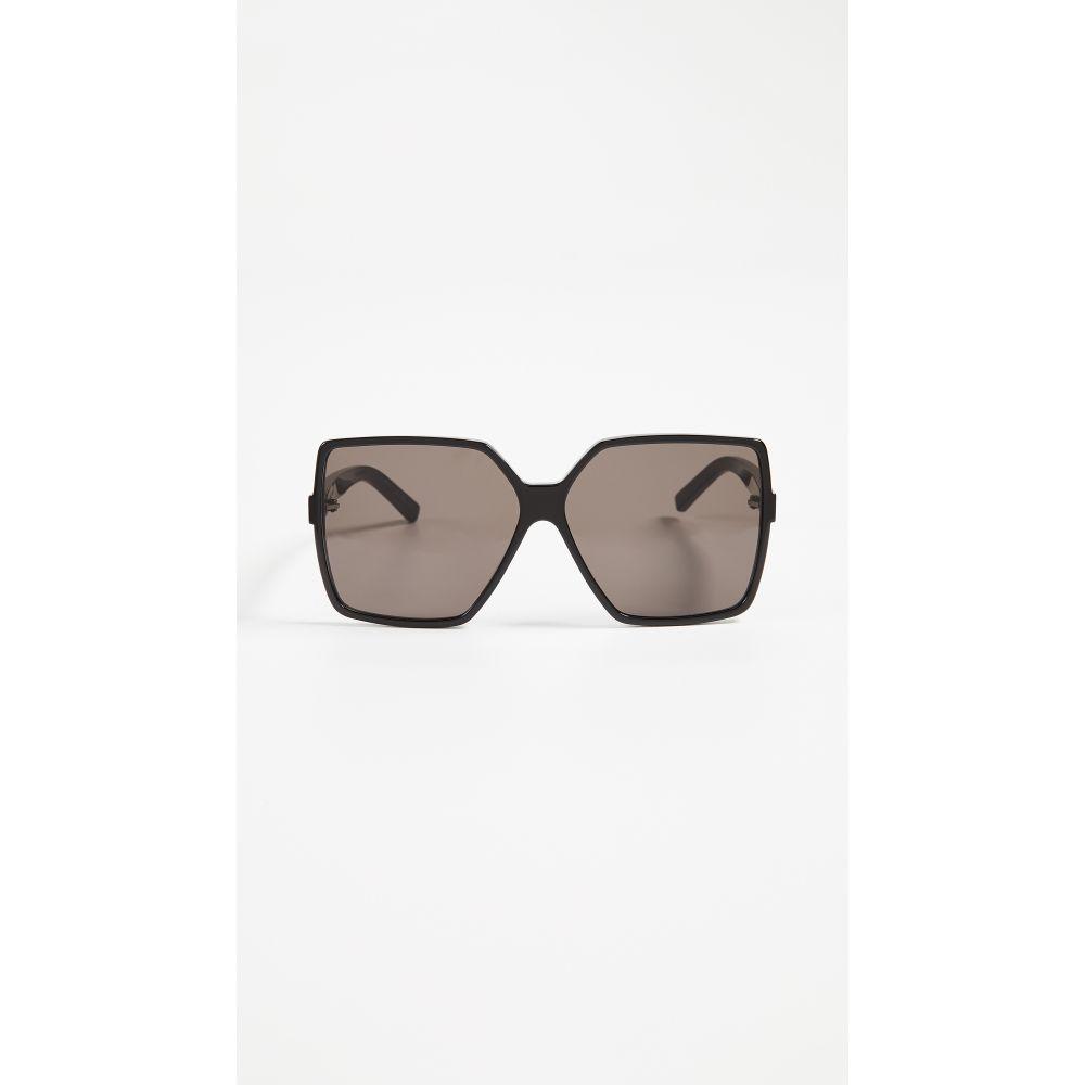 イヴ サンローラン Saint Laurent レディース メガネ・サングラス【SL 232 Betty Sunglasses】Black/Solid Grey