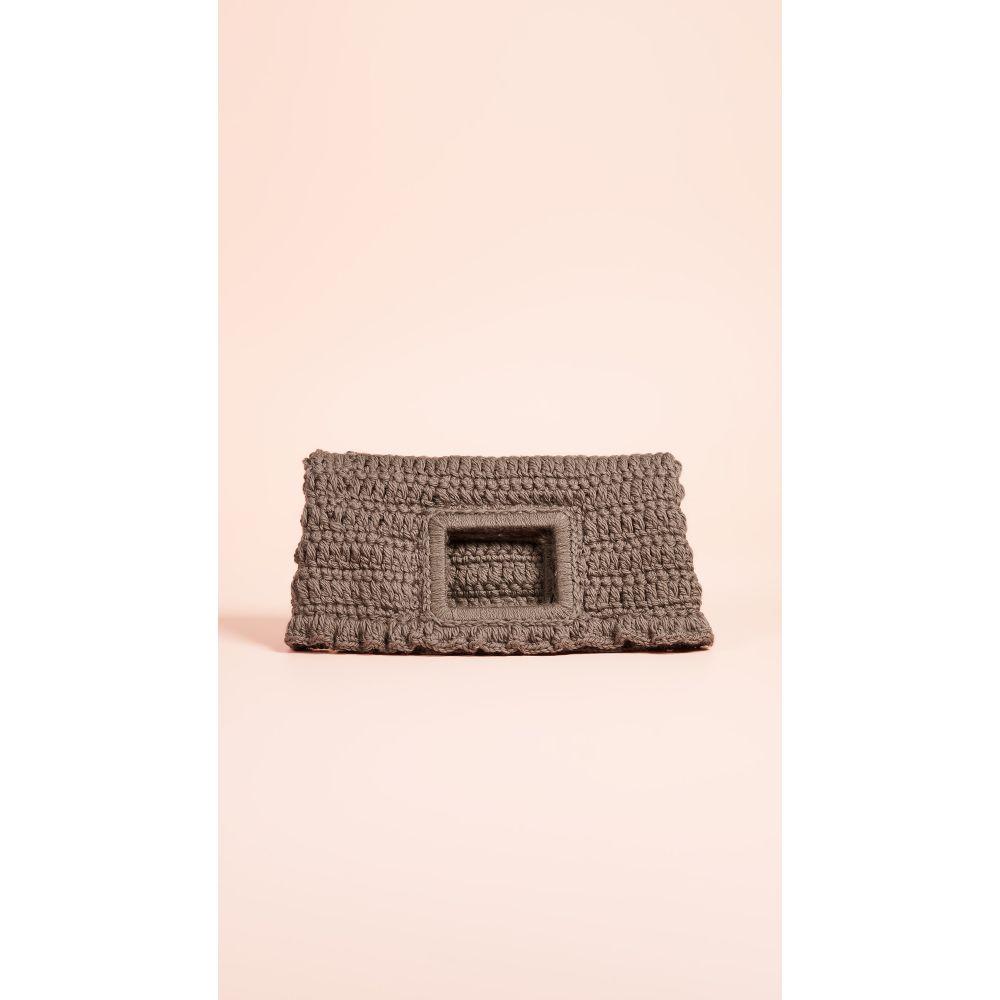 カテリナベルティーニ Caterina Bertini レディース バッグ クラッチバッグ【Wool Knit Clutch】Grey