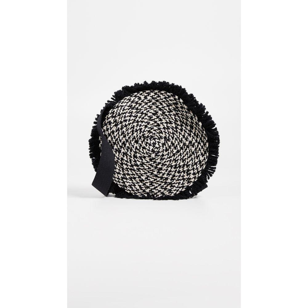 カテリナベルティーニ Caterina Bertini レディース バッグ ショルダーバッグ【Woven Circle Cross Body Bag】Black/White