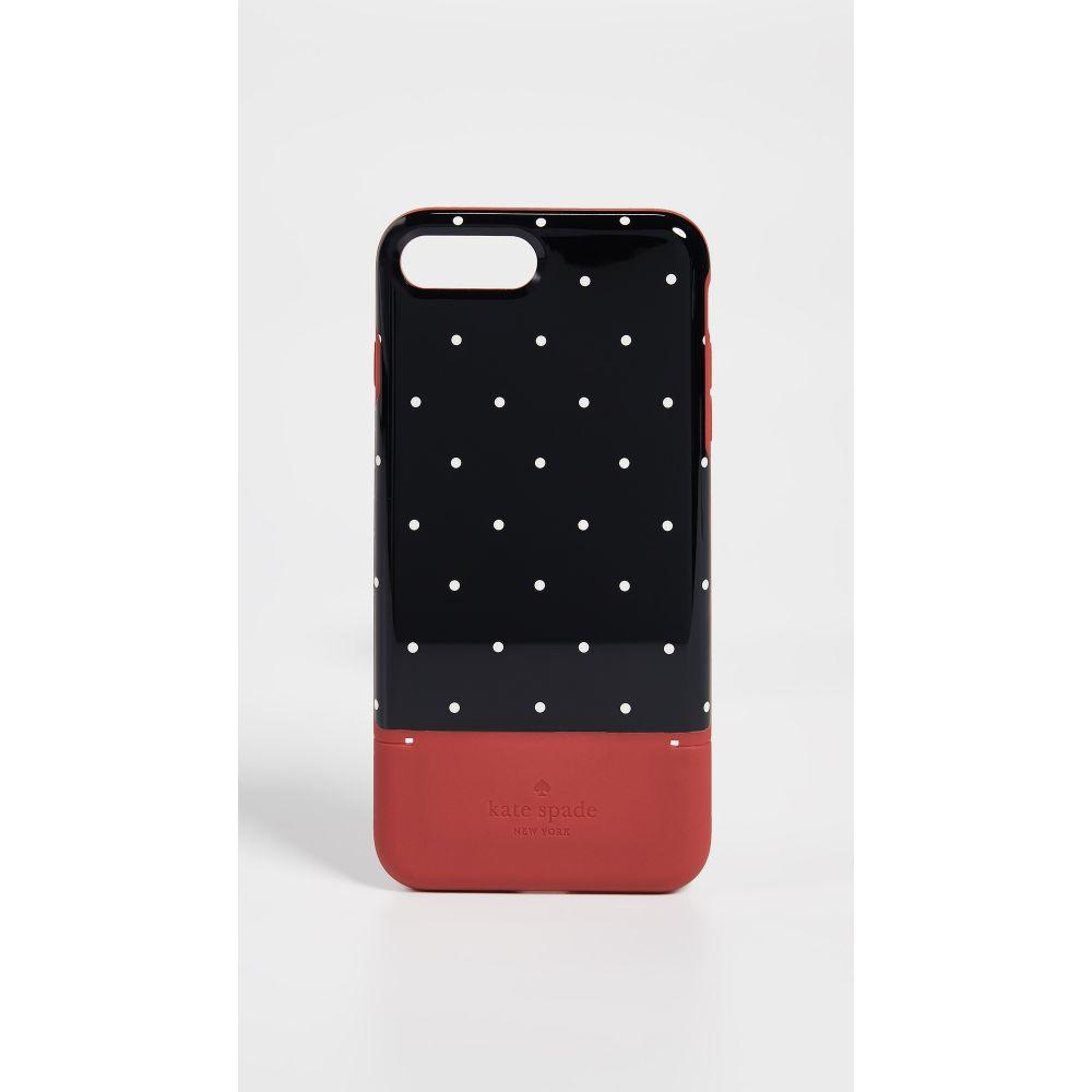 ケイト スペード Kate Spade New York レディース iPhone (8 Plus)ケース【Dot Credit Card iPhone 7 Plus / 8 Plus Case】Heirloom Red