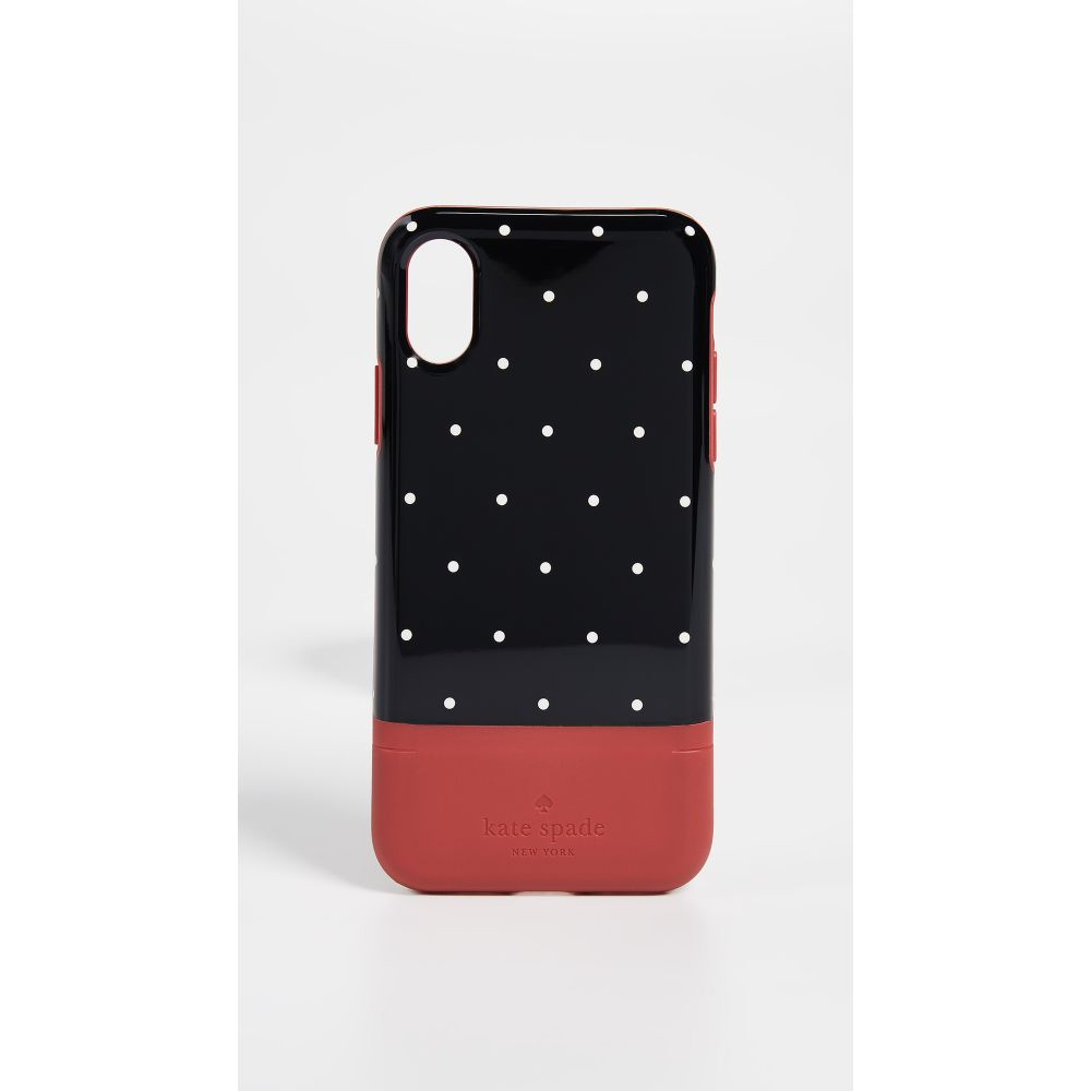 ケイト スペード Kate Spade New York レディース iPhone (X)ケース【Dot Credit Card iPhone X Case】Heirloom Red