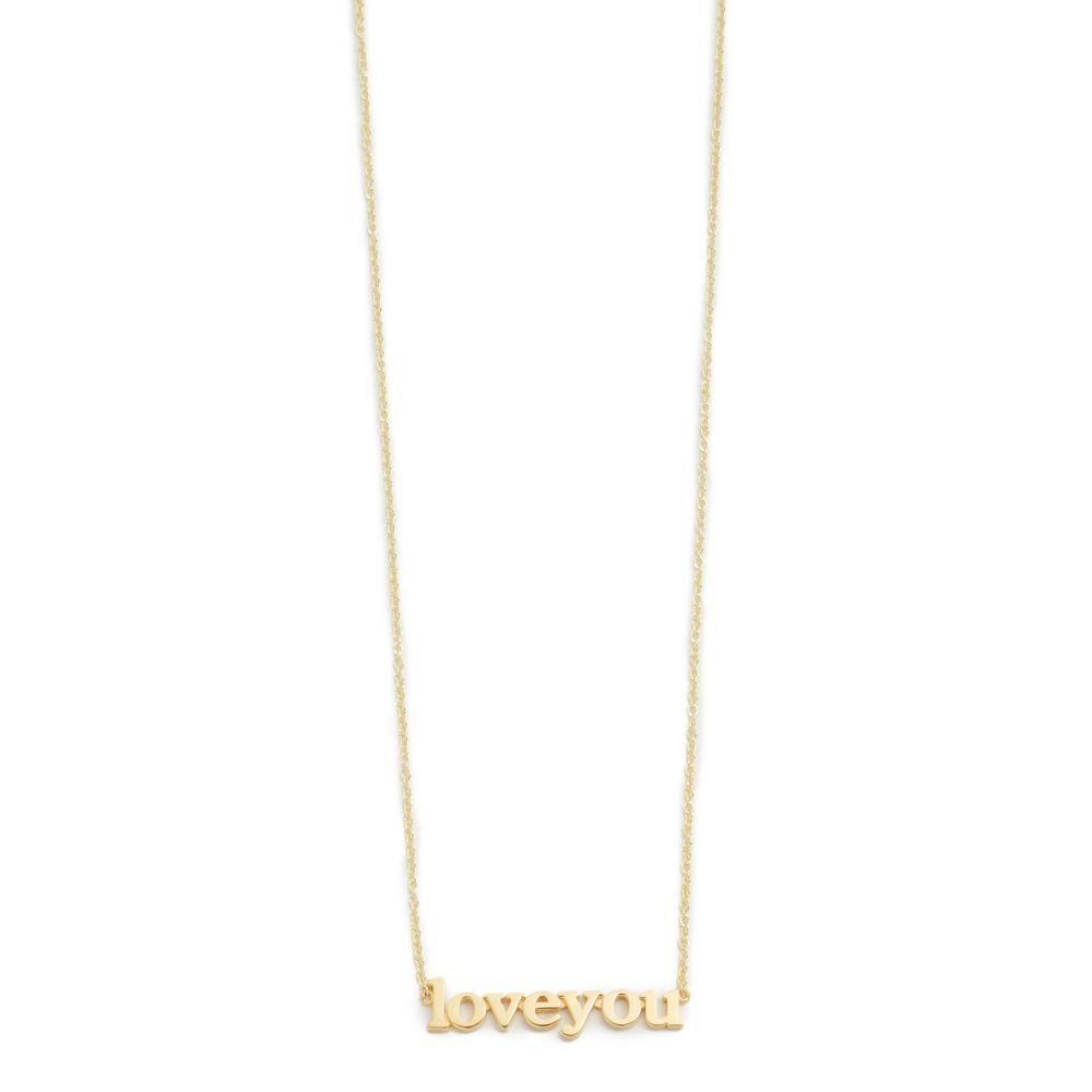 ジェニファーメイヤー Jennifer Meyer Jewelry レディース ジュエリー・アクセサリー ネックレス【18k Gold Love You Necklace】Gold