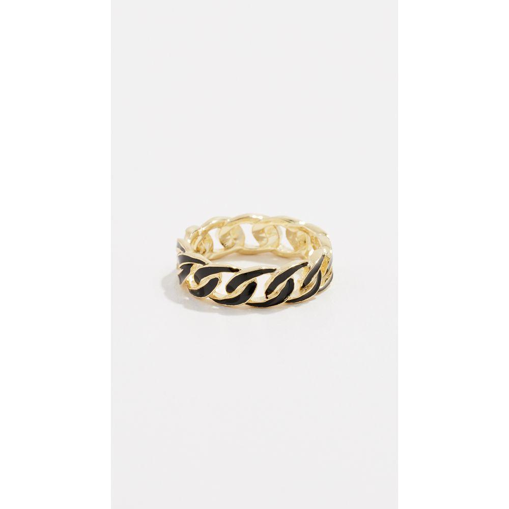 ジェニファーズーナー Jennifer Zeuner Jewelry レディース ジュエリー・アクセサリー 指輪・リング【Charly Enamel Ring】Gold/Black