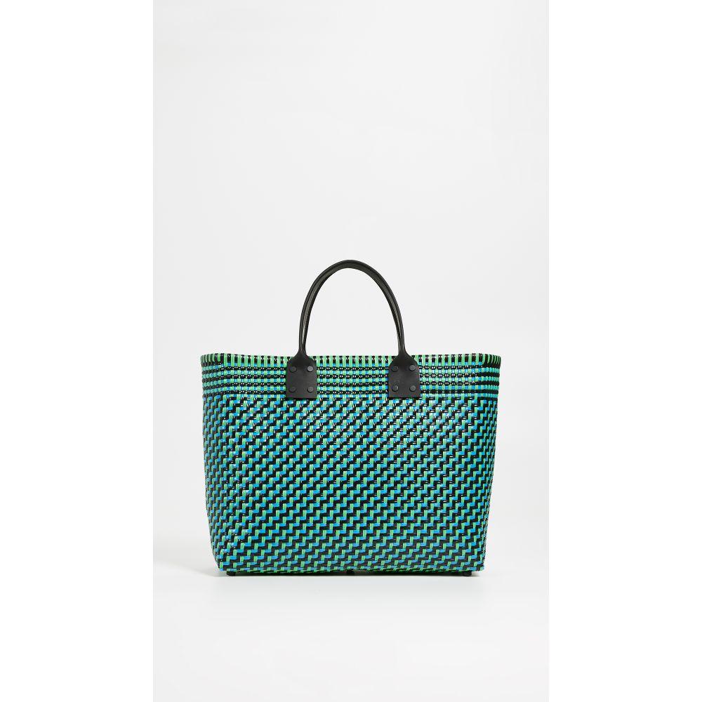 トラス Truss レディース バッグ トートバッグ【Large Tote with Leather Handle】Turquoise/Green
