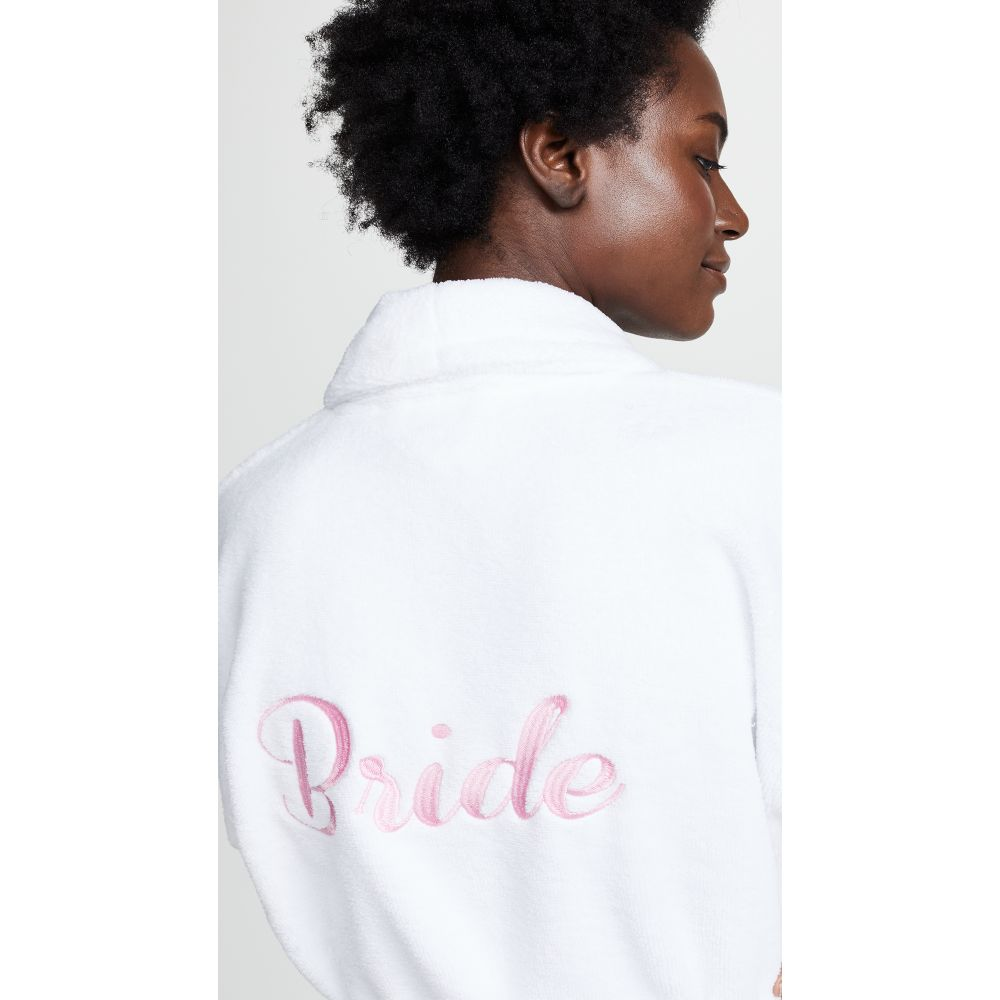 ベッドヘッド Bedhead レディース インナー・下着 ガウン・バスローブ【Pink Embroidered Mrs. Robe】White/Pink