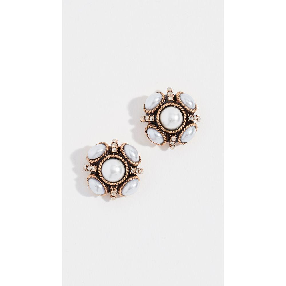 オスカー デ ラ レンタ Oscar de la Renta レディース ジュエリー・アクセサリー イヤリング・ピアス【Classic Button Earrings】Pearl