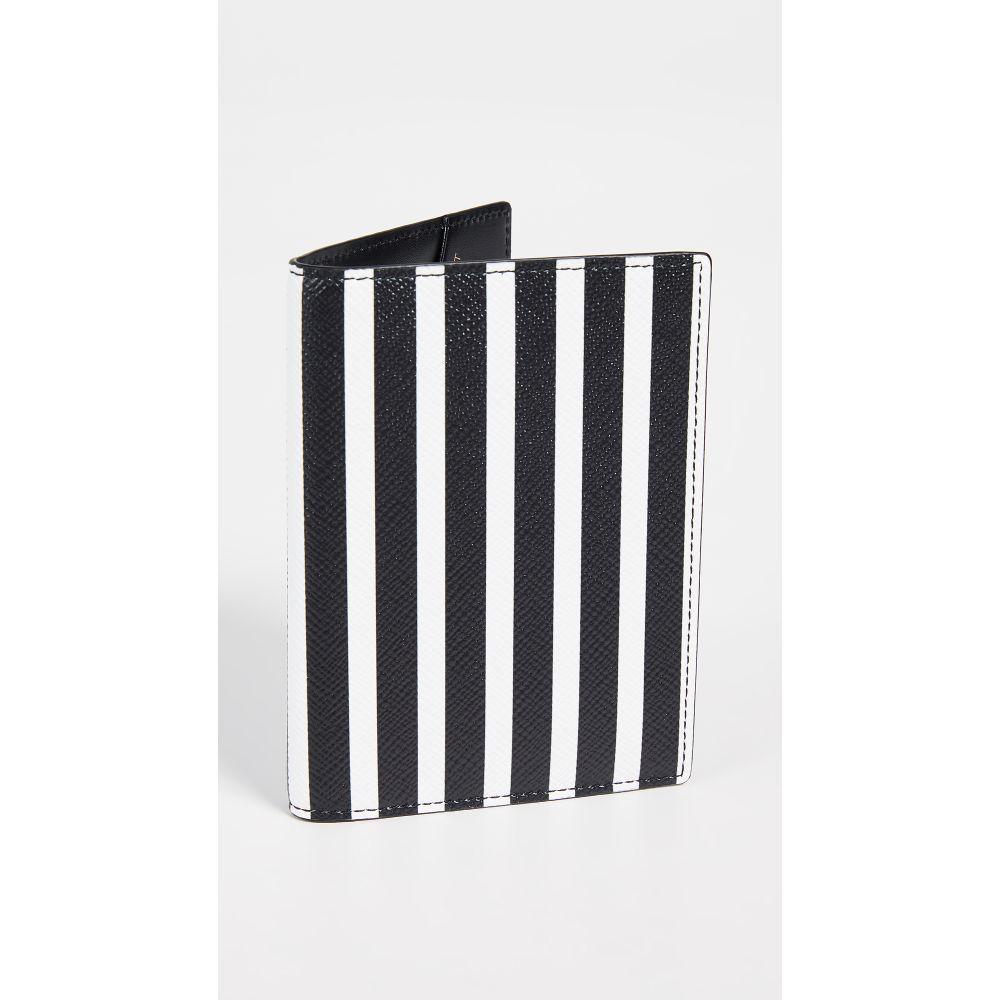 スマイソン Smythson レディース パスポートケース【Panama Passport Cover】Black/White Stripe