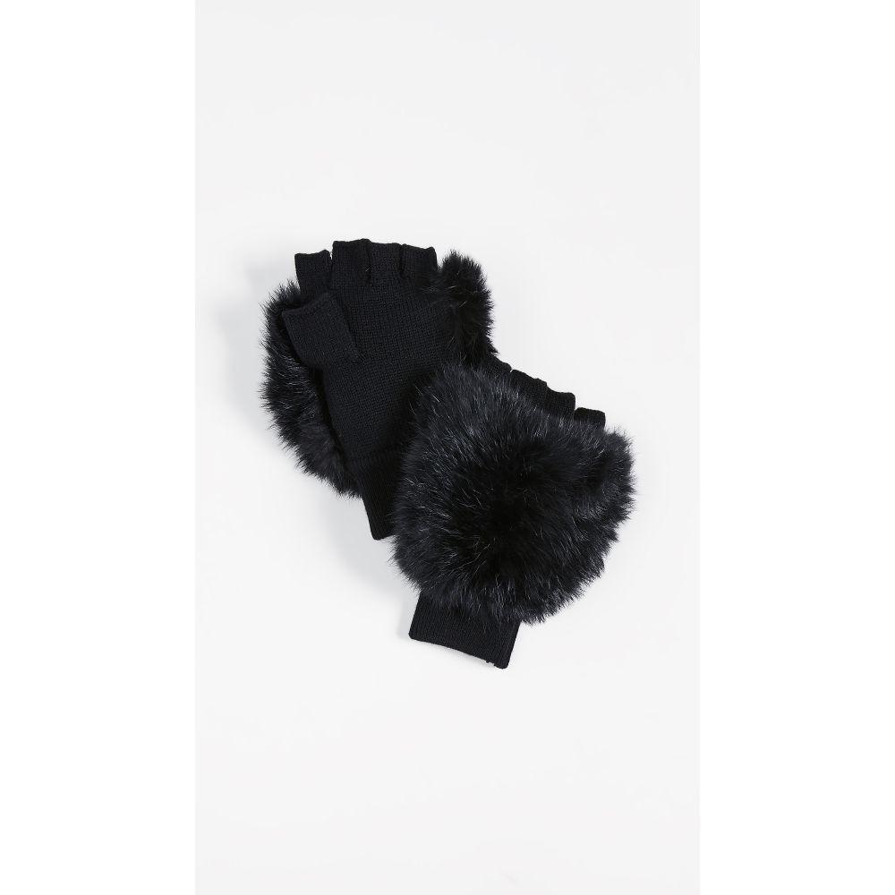 アリス アンド オリビア alice + olivia レディース 手袋・グローブ【Eli Fur Mittens】Black