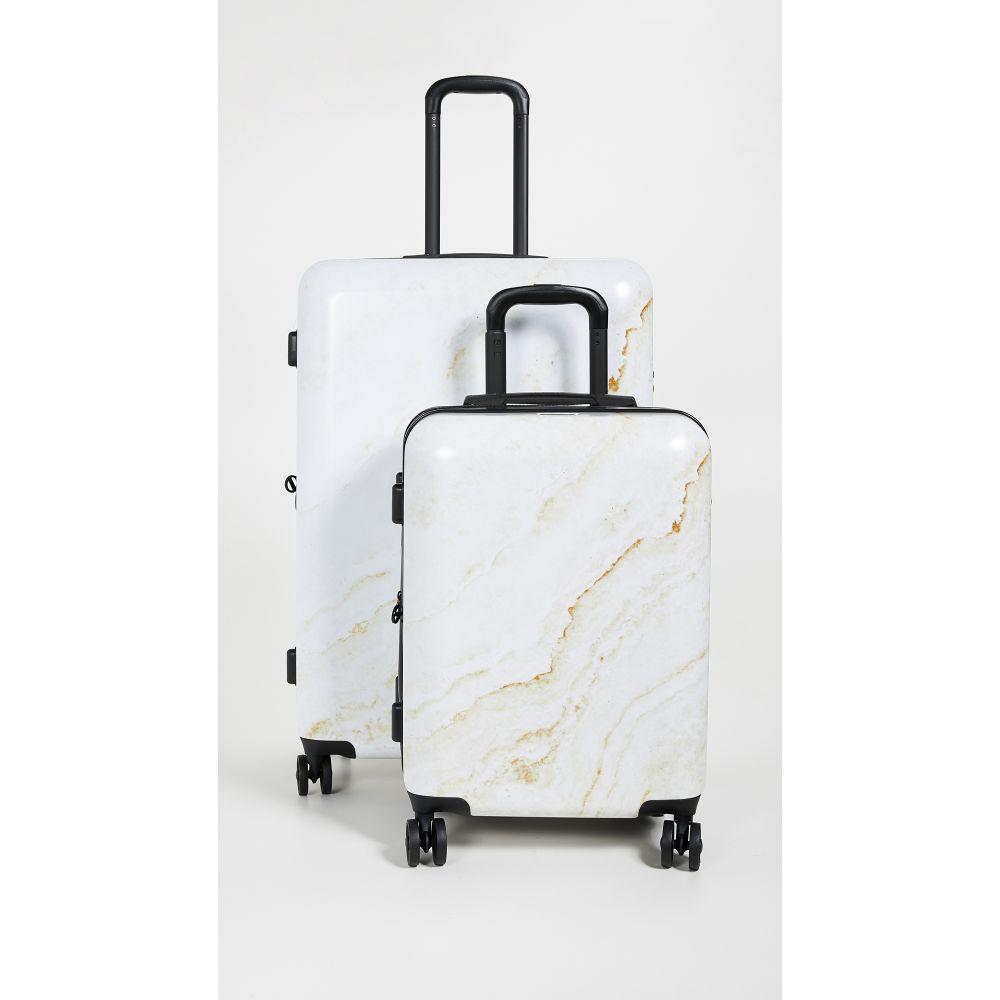 カルパック CALPAK レディース バッグ スーツケース・キャリーバッグ【Gold Marble Two Piece Suitcase Set】Gold