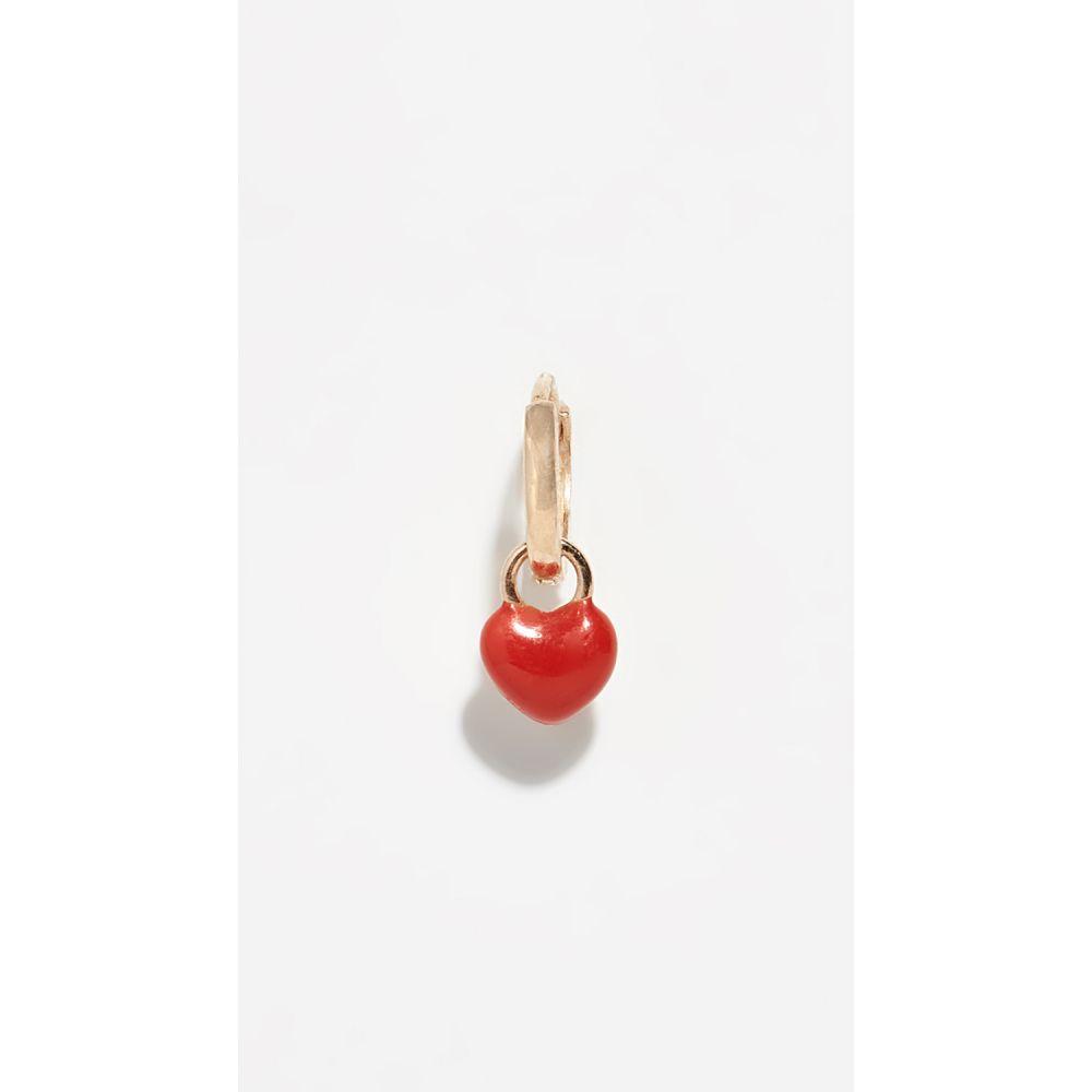 アリソン ルー Alison Lou レディース ジュエリー・アクセサリー イヤリング・ピアス【14k Enamel Heart Single Huggy Earring】Red