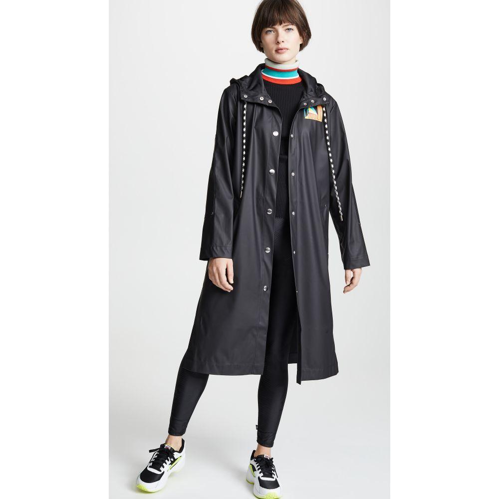 Pswl レディース アウター レインコート【Rubber Raincoat】Black
