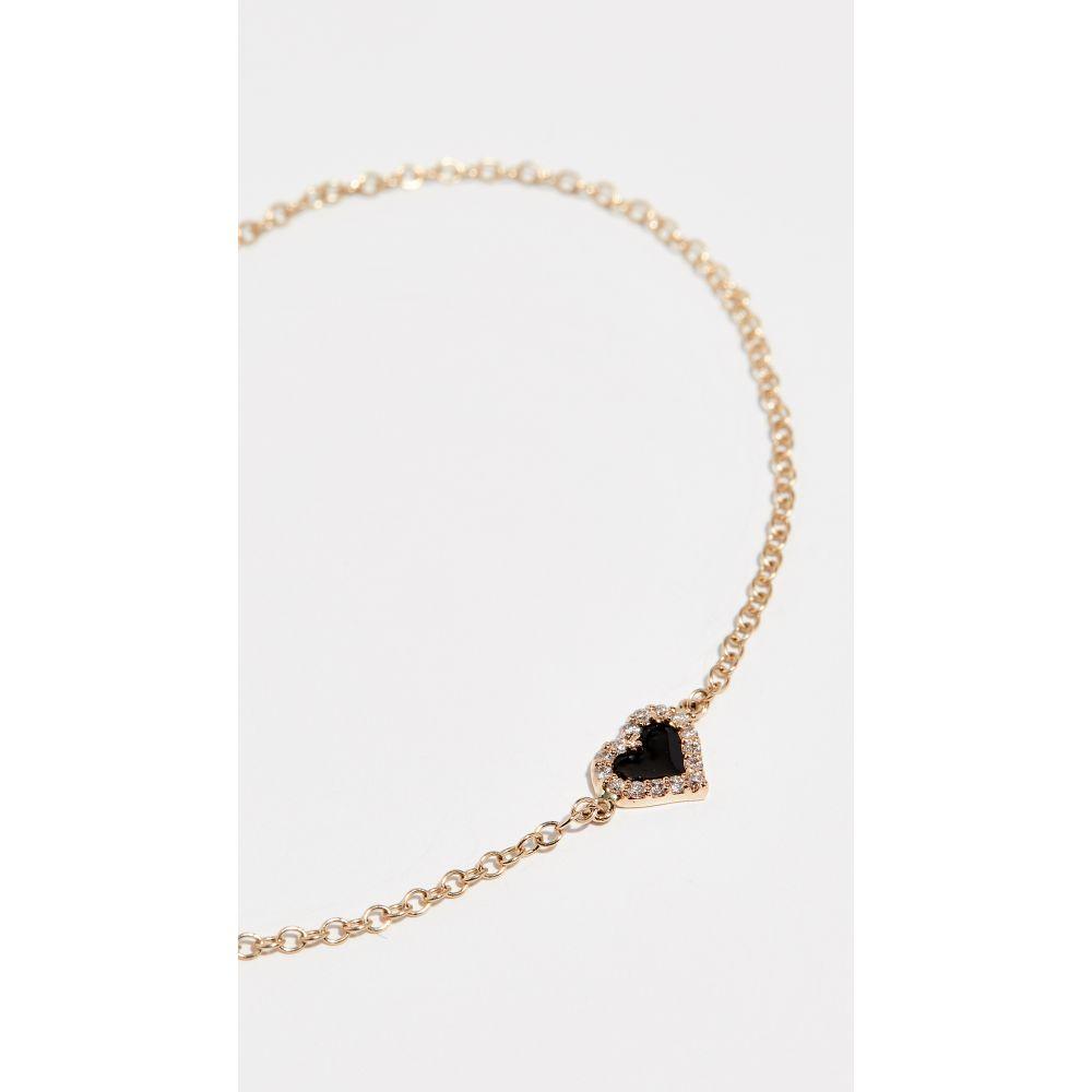 アリソン ルー Alison Lou レディース ジュエリー・アクセサリー ブレスレット【14k Diamond Heart Bracelet】Black