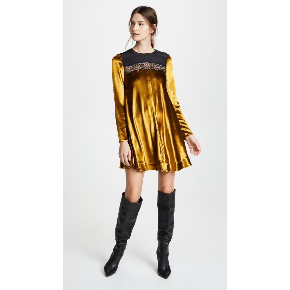 ヴァレンティノ RED Valentino レディース ワンピース・ドレス ワンピース【Velvet Dress】Gold