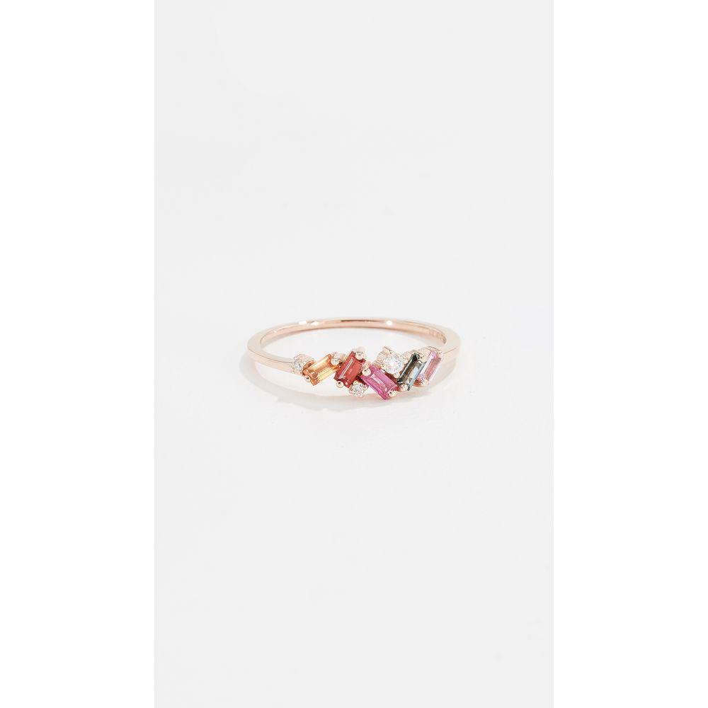 スザンヌカラン Suzanne Kalan レディース ジュエリー・アクセサリー 指輪・リング【18k Mini Ring with Sapphire Baguettes】Rose Gold/Multi