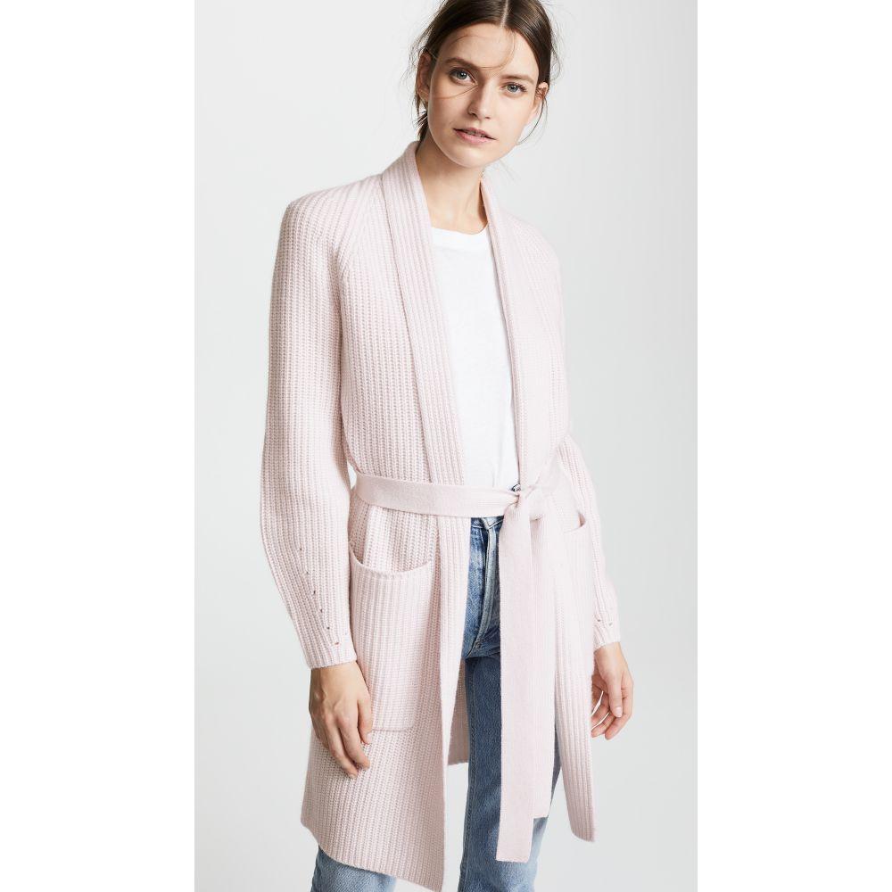セイ TSE Cashmere レディース トップス カーディガン【Cashmere Cardigan Coat with Belt】Milky Pink