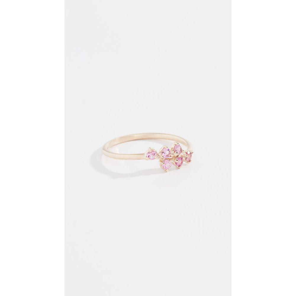 ダブルウェイク Wwake レディース ジュエリー・アクセサリー 指輪・リング【14k Mirrored Points Ring】Pink Tourmaline