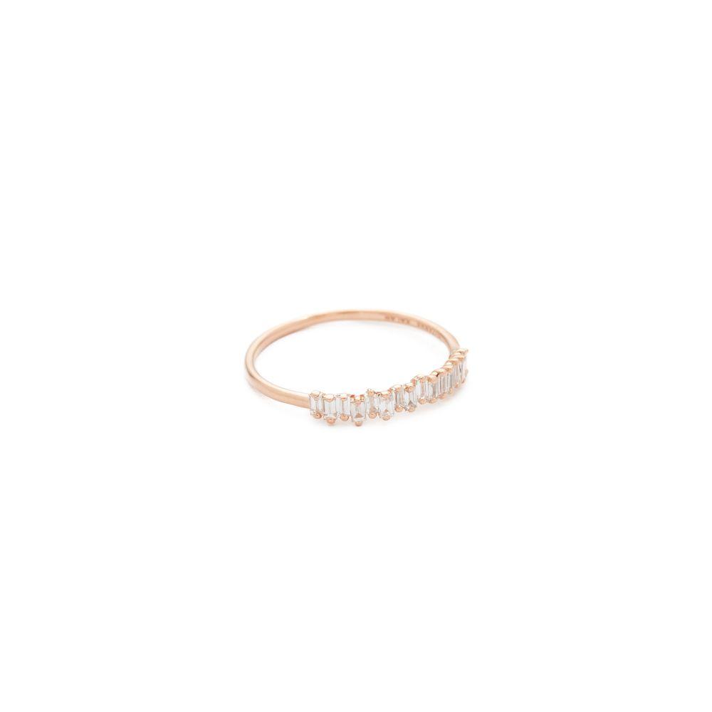 スザンヌカラン Suzanne Kalan レディース ジュエリー・アクセサリー 指輪・リング【Fireworks 18k Gold Diamond Half Band Ring】Rose Gold
