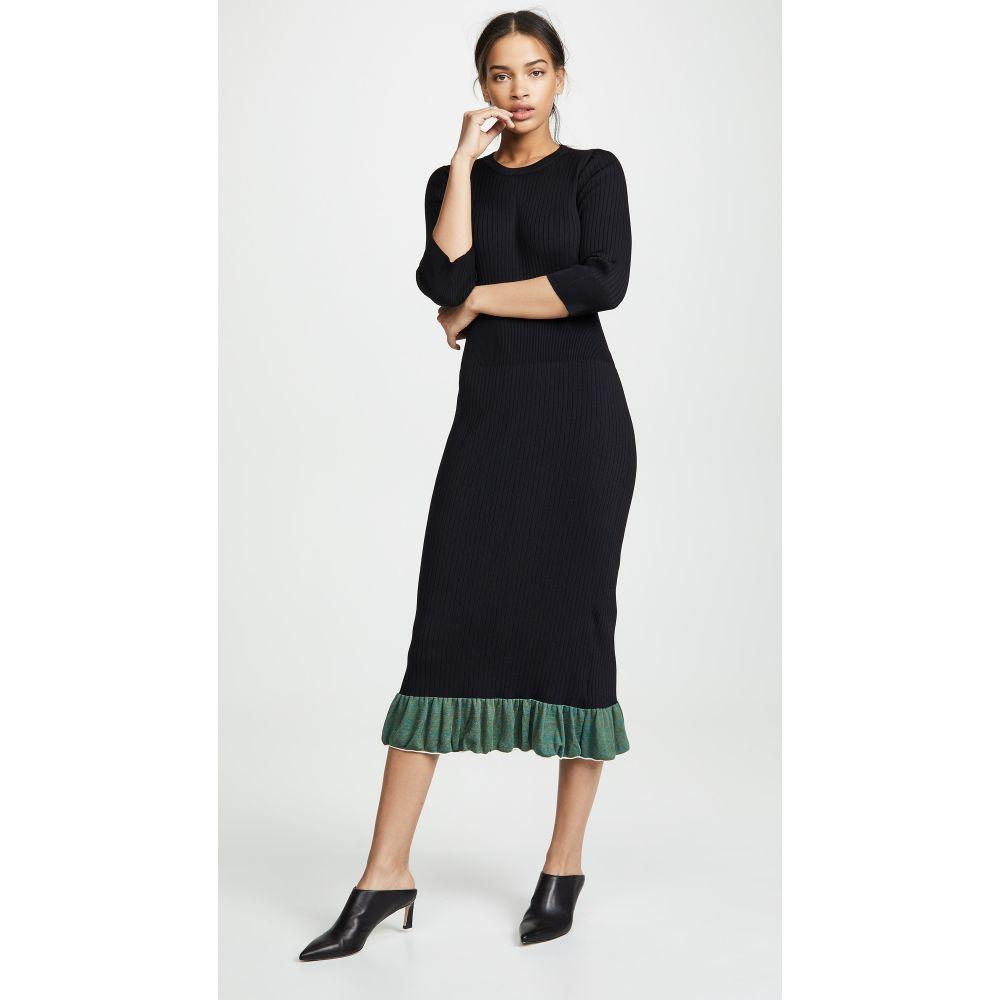トーガ Toga Pulla レディース ワンピース・ドレス ワンピース【Wide Rib Knit Dress】Black
