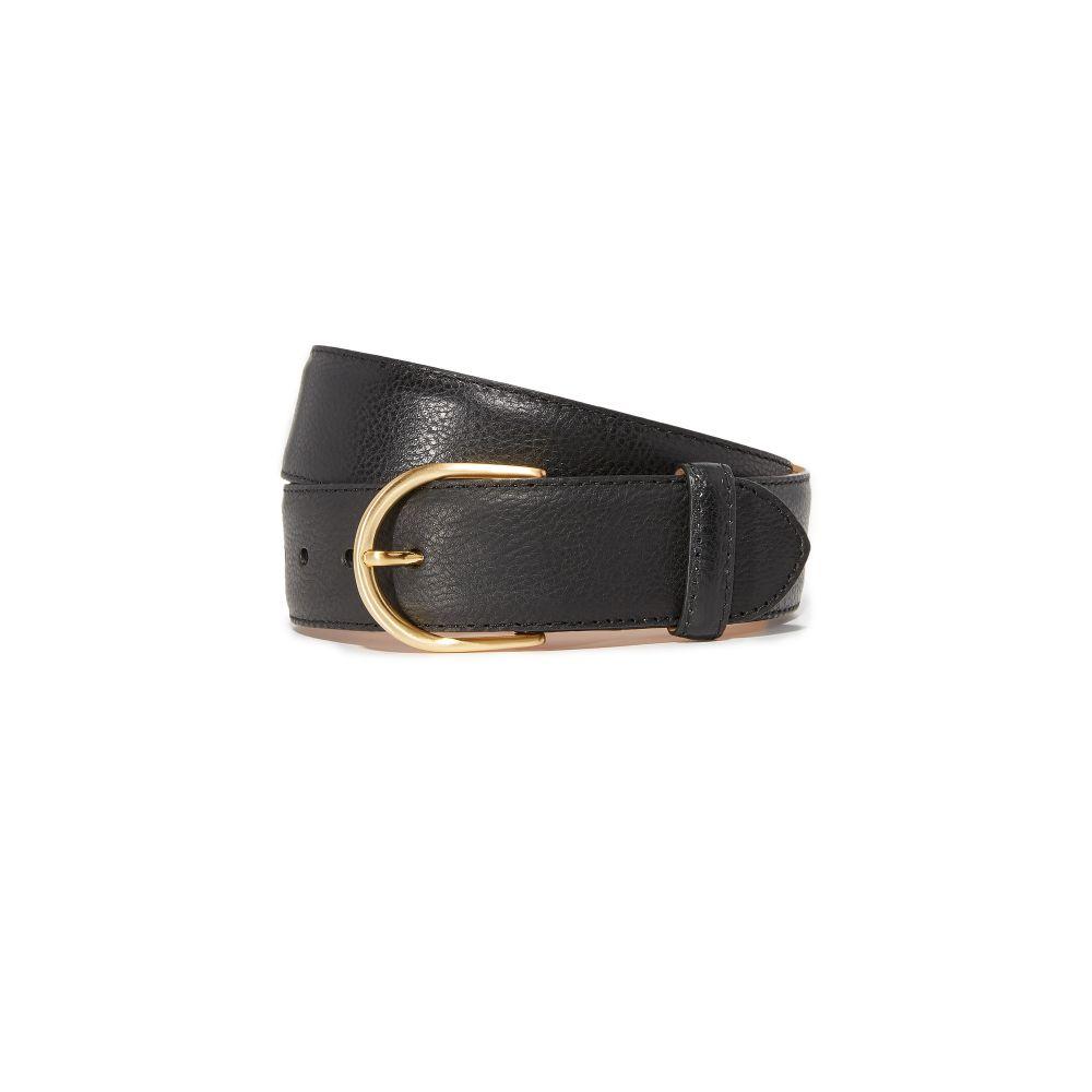 W.?クレインバーグ W.Kleinberg レディース ベルト【Pebbled Leather Basic Belt】Black