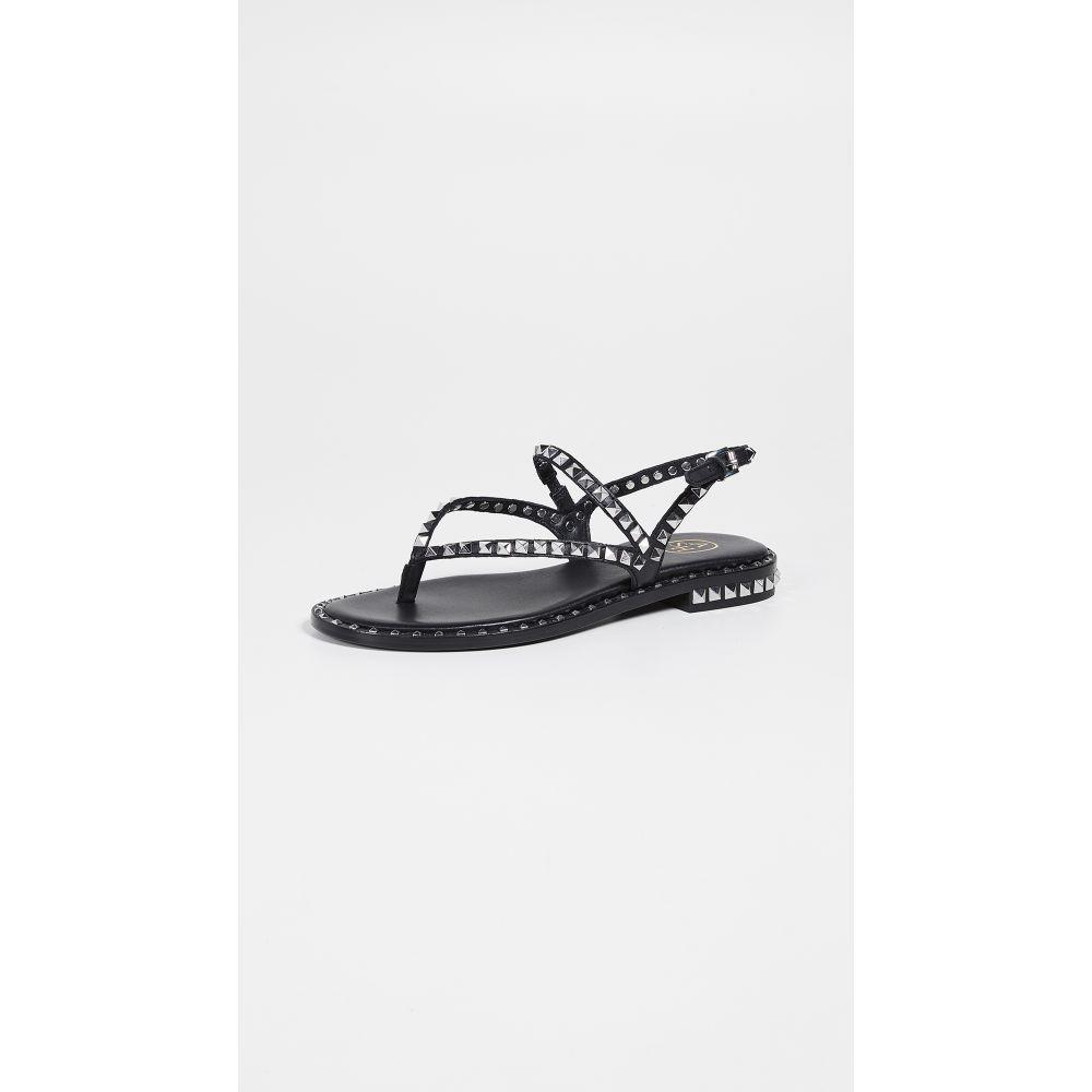 アッシュ Ash レディース シューズ・靴 サンダル・ミュール【Peps Thong Sandals】Black/Silver Studs