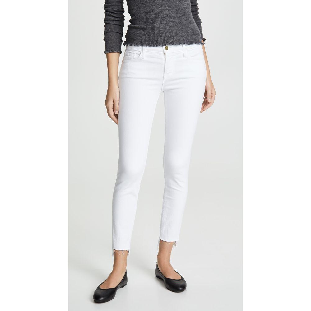 フレーム FRAME レディース ボトムス・パンツ ジーンズ・デニム【Le Skinny De Jeanne Stagger Hem Jeans】Blanc