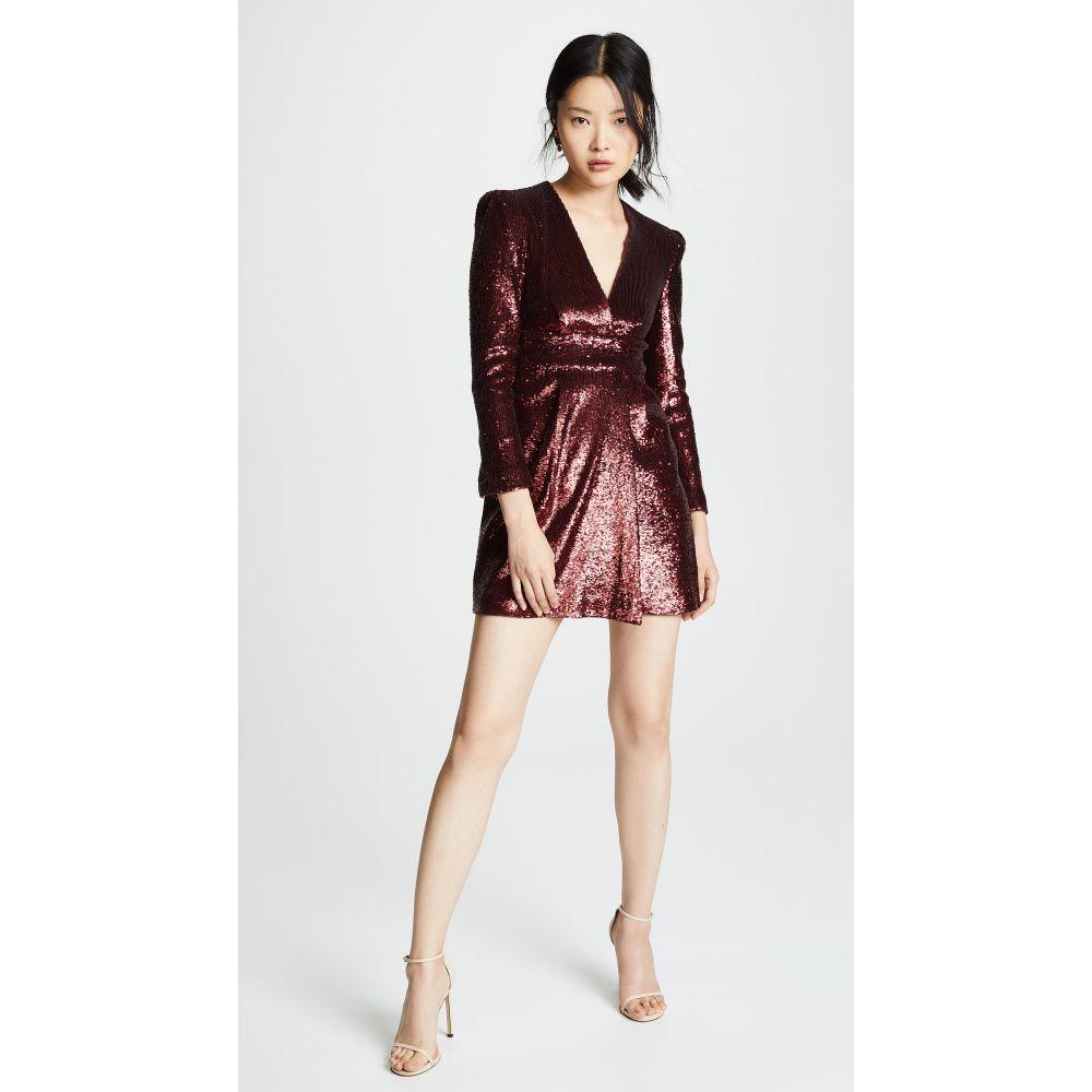 エーエルシー A.L.C. レディース ワンピース・ドレス ワンピース【Mara Sequin Dress】Bordeaux