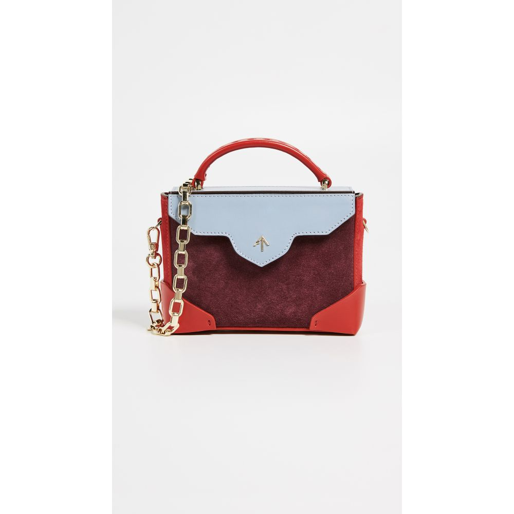 マニュ アトリエ MANU Atelier レディース バッグ ショルダーバッグ【Micro Bold Combo Bag】Burgundy/Red/Ice Blue