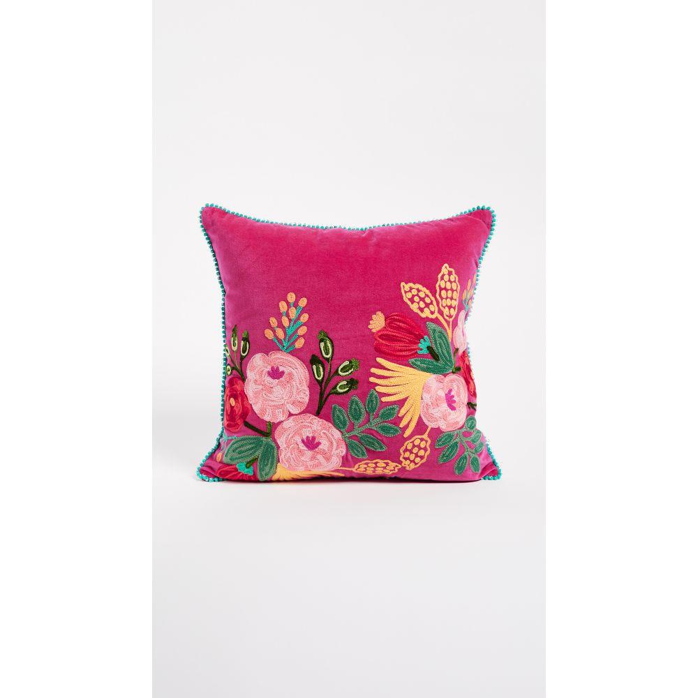 ギフトブティック Gift Boutique レディース 雑貨【Velvet Floral Pillow】Fuchsia
