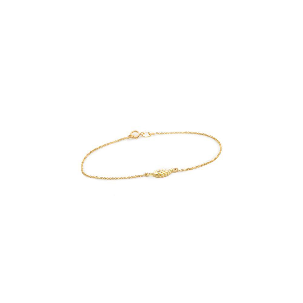 ジェニファーメイヤー Jennifer Meyer Jewelry レディース ジュエリー・アクセサリー ブレスレット【18k Gold Mini Leaf Bracelet】Gold