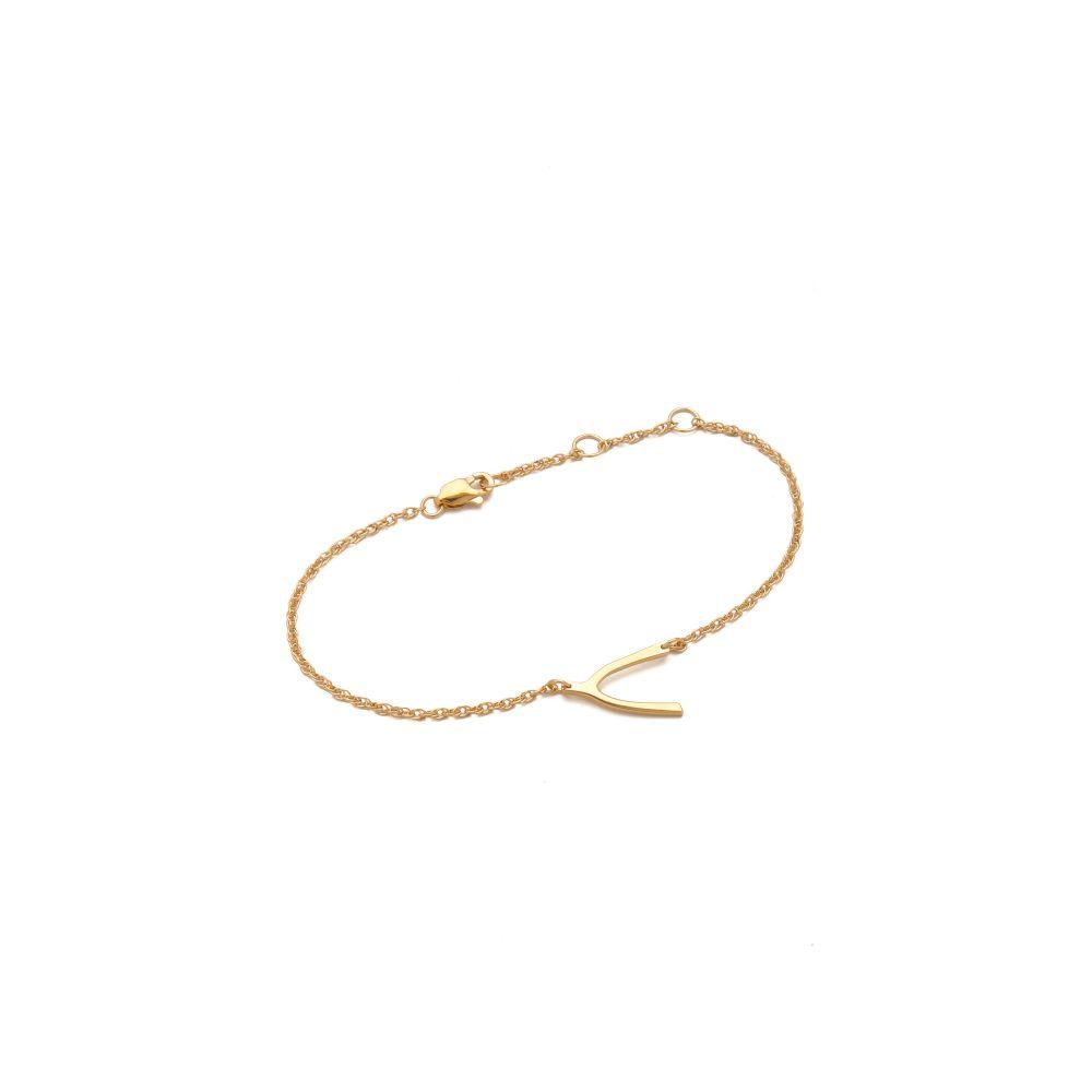 ジェニファーズーナー Jennifer Zeuner Jewelry レディース ジュエリー・アクセサリー ブレスレット【Mini Wishbone Bracelet】Gold