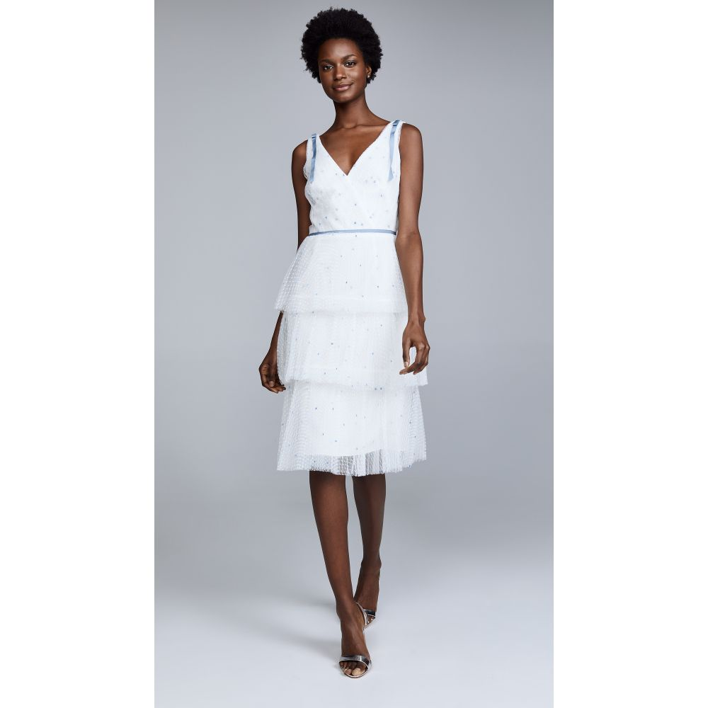 ノッテ バイ マルケッサ Marchesa Notte レディース ワンピース・ドレス パーティードレス【Sleeveless Embroidered Cocktail Dress】Ivory