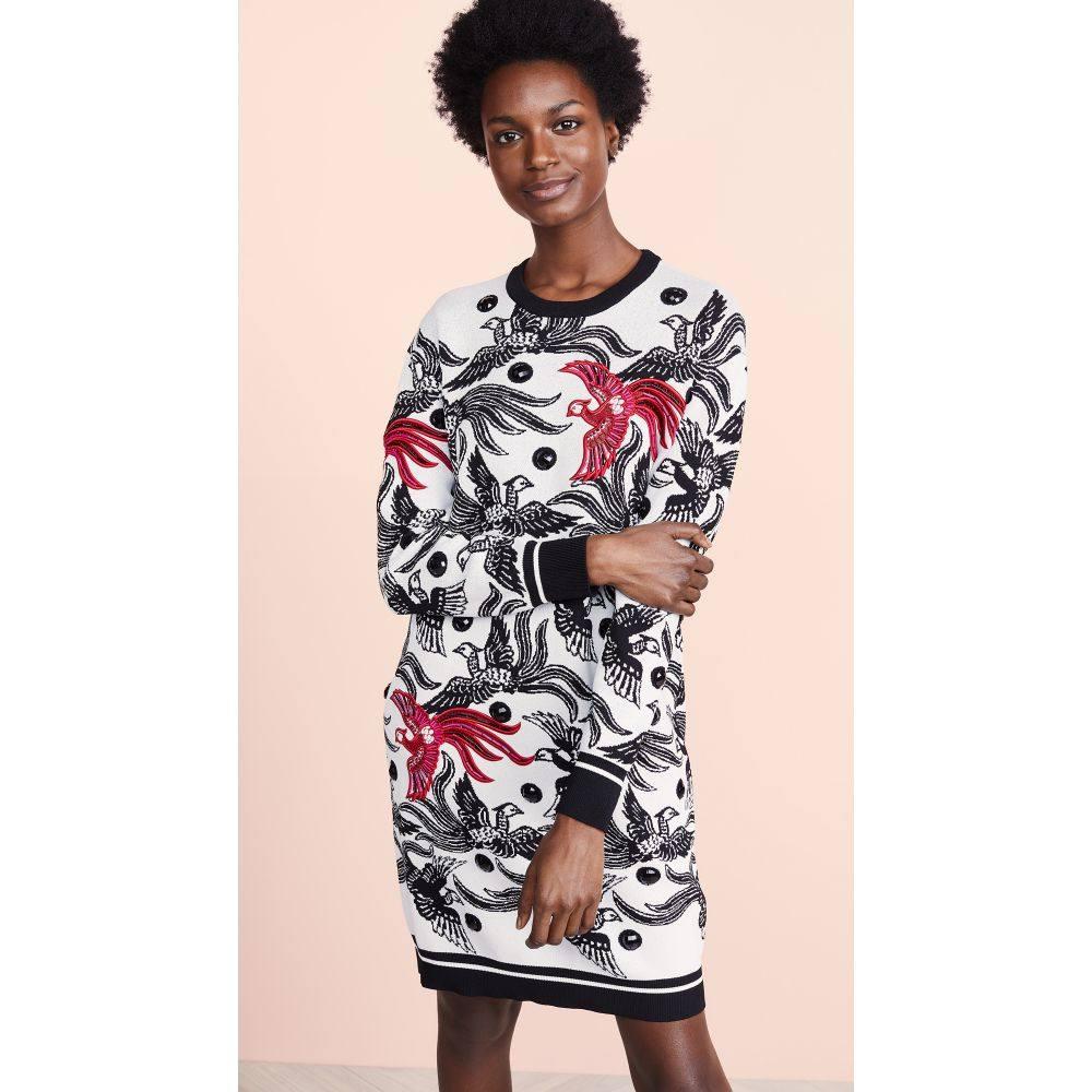 ケンゾー KENZO レディース ワンピース・ドレス ワンピース【Phoenix Jacquard Sweater Dress】Medium Red