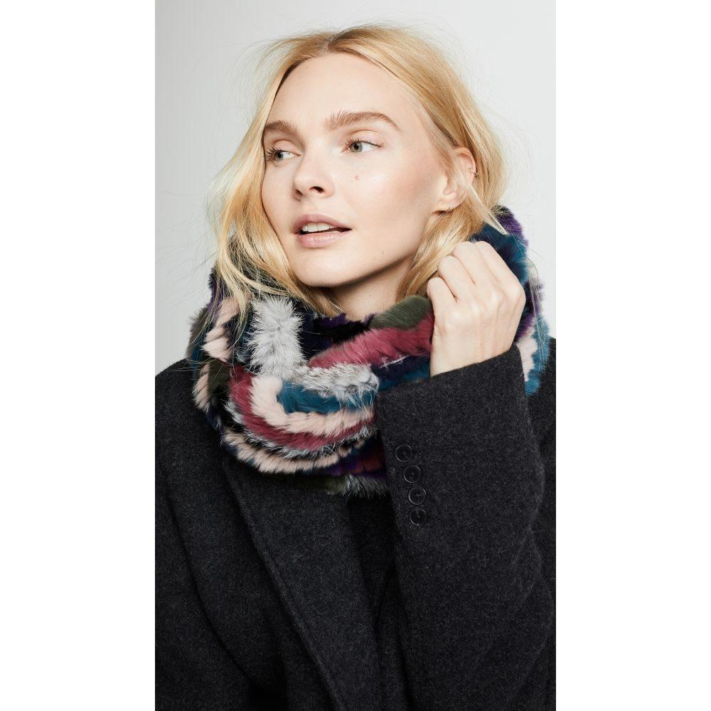 ジョセリン Jocelyn レディース マフラー・スカーフ・ストール【Knitted Fur Infinity Scarf】Multi
