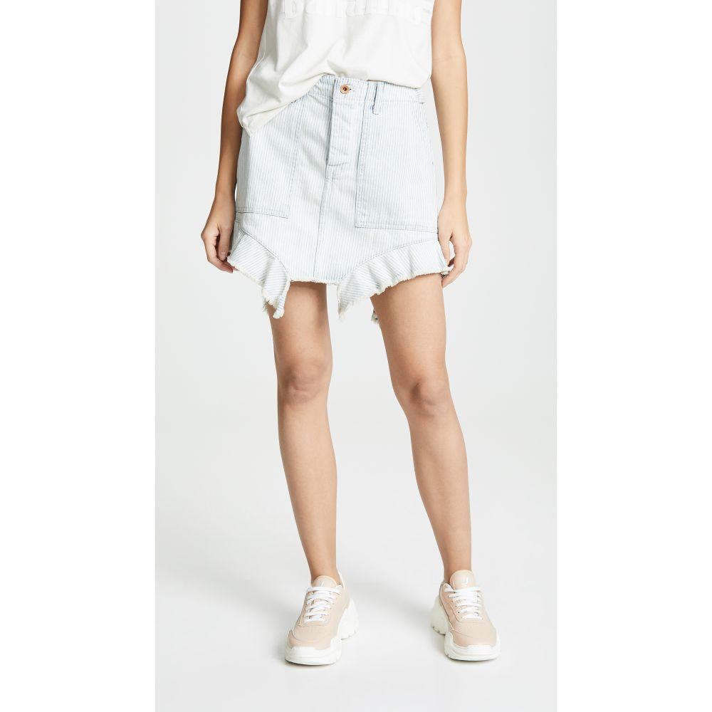 エヌエスエフ NSF レディース スカート【Leonie Ruffle Skirt】Rail Stripe Fade