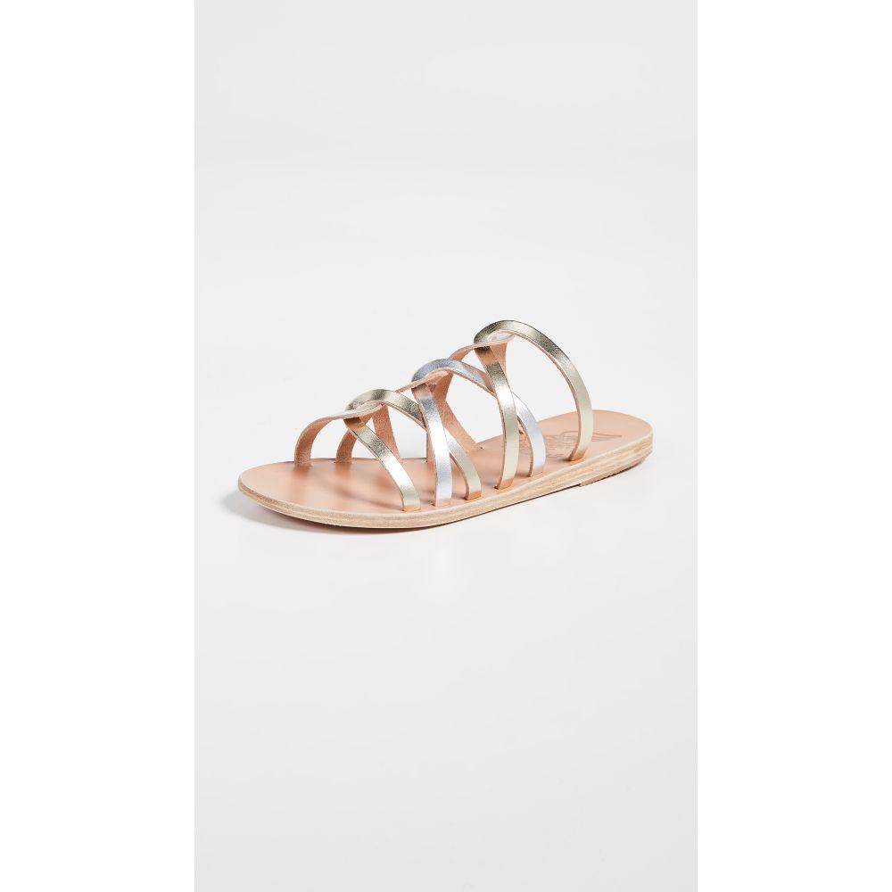 エンシェント グリーク サンダルズ Ancient Greek Sandals レディース シューズ・靴 サンダル・ミュール【Donousa Slides】Silver/Platinum
