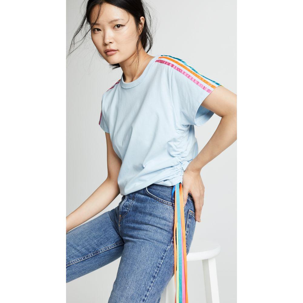 ミラミカティ Mira Mikati レディース トップス Tシャツ【Side Stripe Tee】Sky Blue