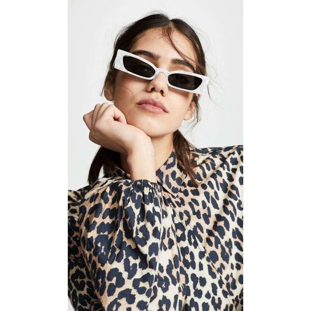ロベリ&フラウド Roberi & Fraud レディース メガネ・サングラス【Geraldine Sunglasses】White Pearl