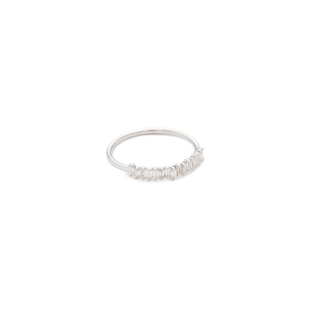 スザンヌカラン Suzanne Kalan レディース ジュエリー・アクセサリー 指輪・リング【Fireworks 18k Gold Diamond Half Band Ring】White Gold