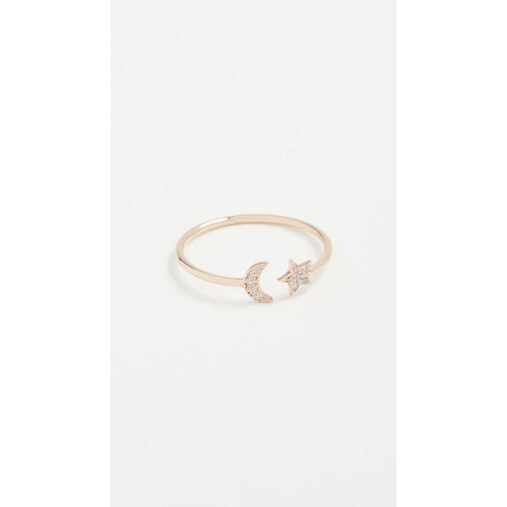 ゾーイ チコ Zoe Chicco レディース ジュエリー・アクセサリー 指輪・リング【14k Gold Star & Moon Ring with Diamonds】Yellow Gold
