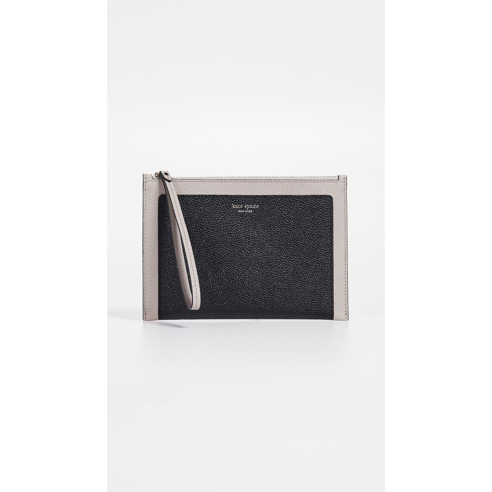 ケイト スペード Kate Spade New York レディース バッグ クラッチバッグ【Margaux Small Wristlet】Black/Warm Taupe