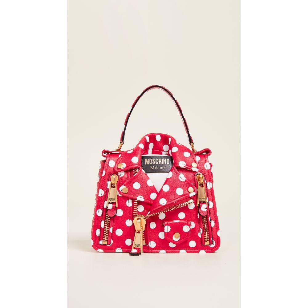 モスキーノ Moschino レディース バッグ【Polka Dots Biker Bag】Fantasy Print Red
