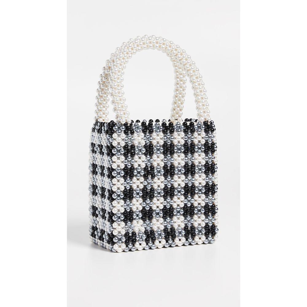 シュリンプス Shrimps レディース バッグ レディース ハンドバッグ Bag】Cream/Black【Willow Beaded Gingham Beaded Bag】Cream/Black, Smile Garden&EX:670d7df6 --- reinhekla.no