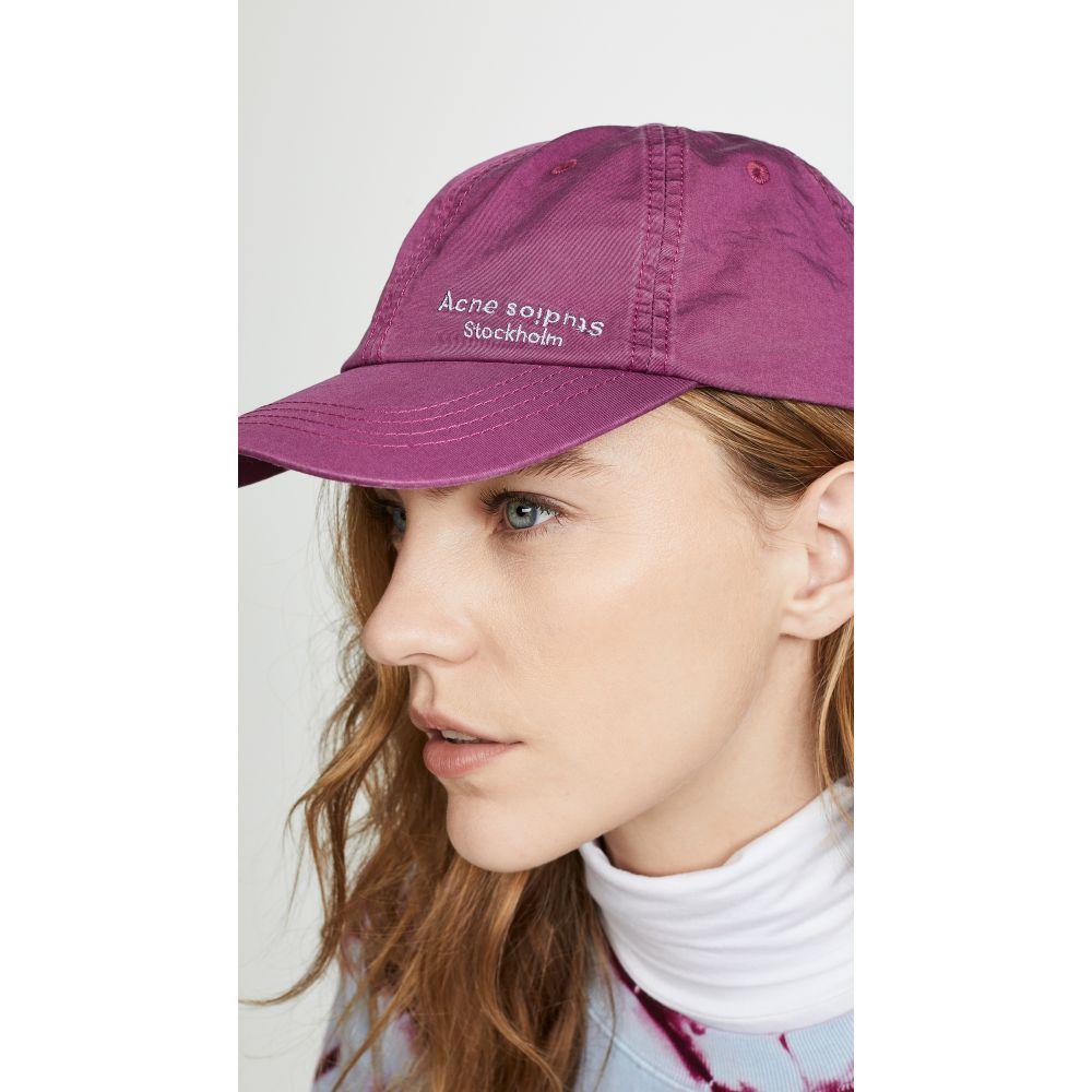 アクネ ストゥディオズ Acne Studios レディース 帽子 キャップ【Carliy Dye Baseball Hat】Grape