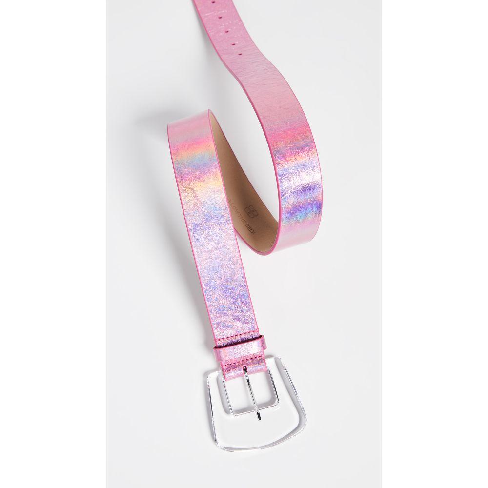 ビーローザベルト B-Low The Belt レディース ベルト【Cece Iridescent Belt】Pink