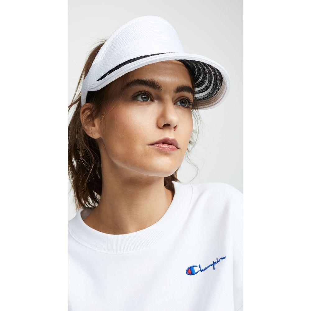 ユージニア キム Eugenia Kim レディース 帽子 サンバイザー【Vicky Visor】White/Black