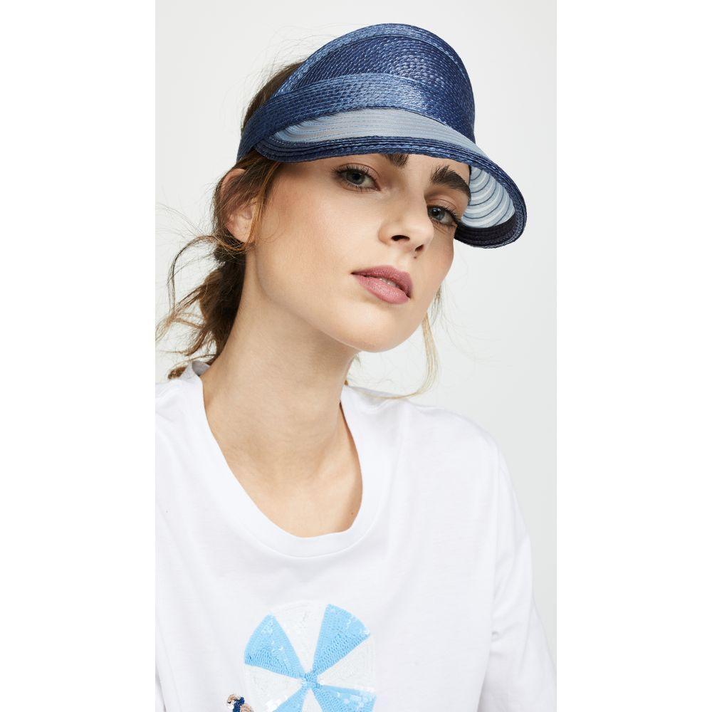 ユージニア キム Eugenia Kim レディース 帽子 サンバイザー【Vicky Visor】Navy
