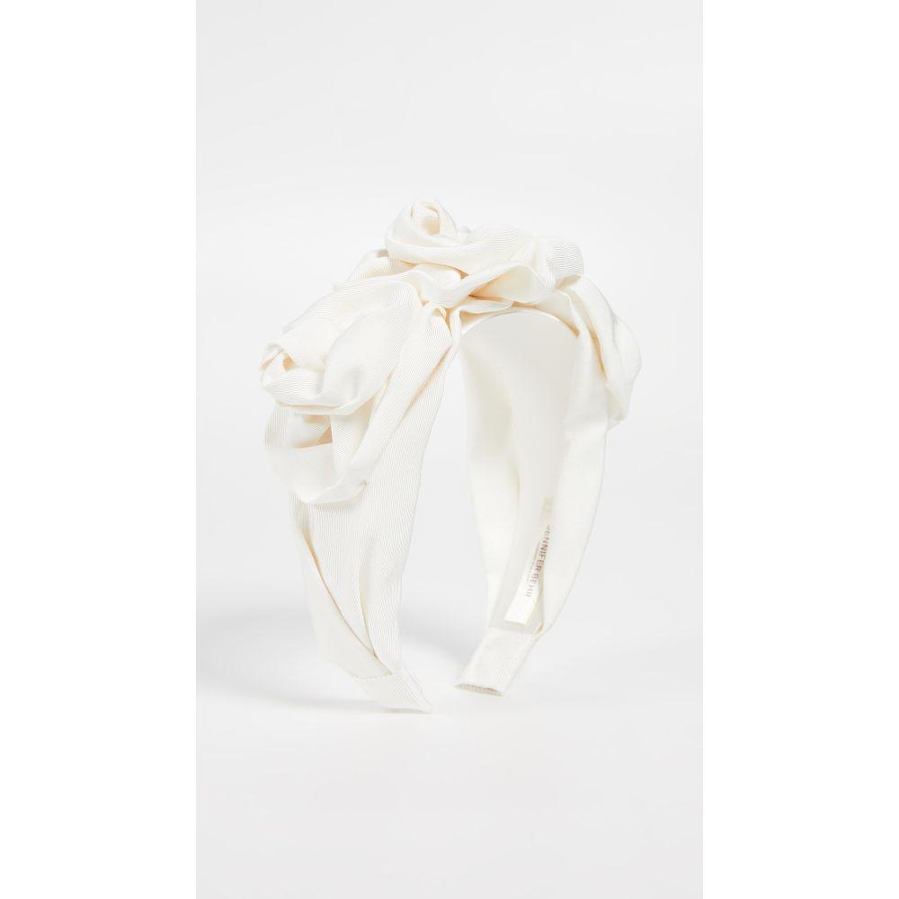 ジェニファーベア Jennifer Behr レディース ヘアアクセサリー【Triple Rosette Faille Headband】Cream