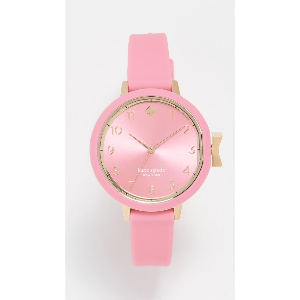 ケイト スペード Kate Spade New York レディース 腕時計【Silicone Watch, 34mm】Pink