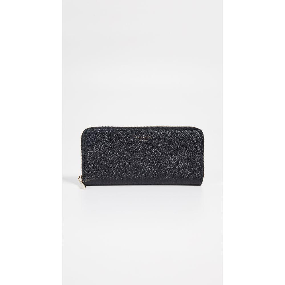 ケイト スペード Kate Spade New York レディース 財布【Margaux Slim Continental Wallet】Black